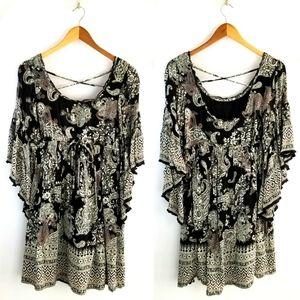 4 for $25--Altar'd State Boho Bell Sleeve Dress